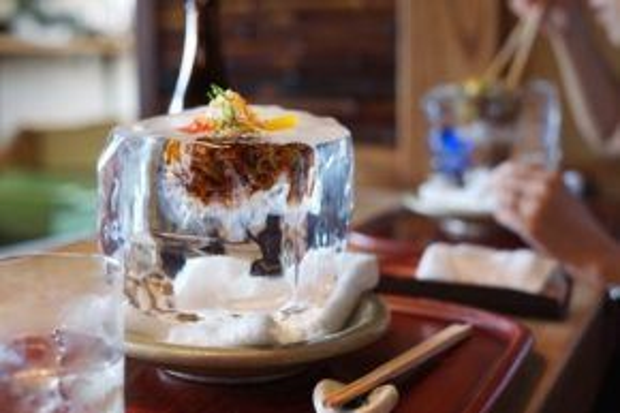 Quán ăn đặc biệt hút khách trong mùa hè.