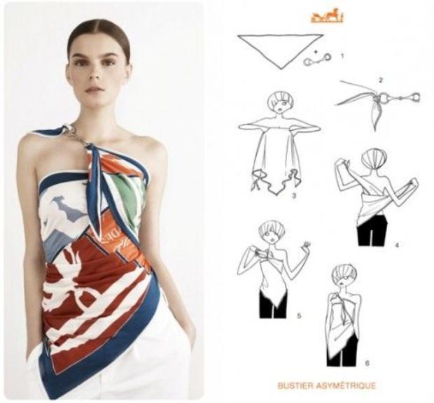 20 cách thắt khăn lụa Hermès ấn tượng và phong cách