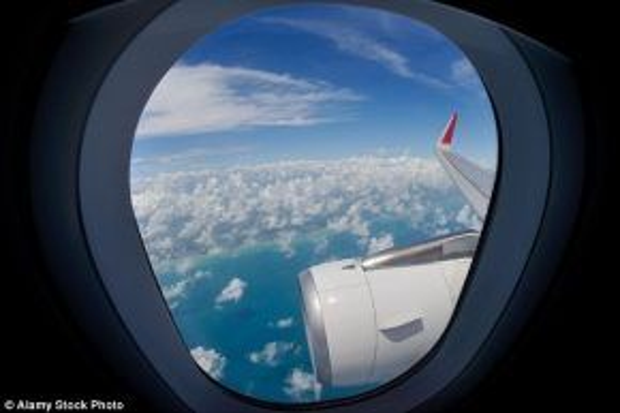 Ngồi ở phía trước cánh máy bay cũng giống như ngồi phía sau một chiếc loa. Ảnh:Alamy Stock.