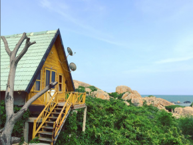 Nhà nghỉ ở khu bãi đá Cổ Thạch. (Ảnh: @tienndn)