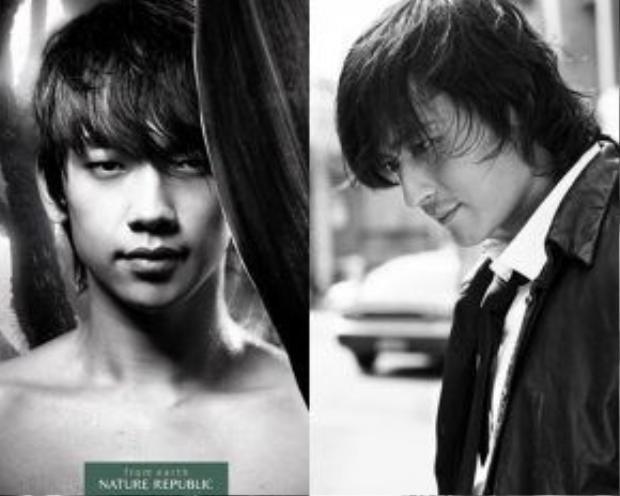 Vẻ đẹp nam tính, góc cạnh của Jang Dong Gun và Bi Rain từng là xu hướng quảng cáo được ưa chuộng một thời.