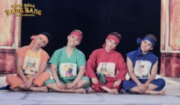 Bốn chàng trai của nhóm 365 đã hóa thân thành những nhân vật được lấy cảm hứng từ bộ truyện tranh Thần Đồng Đất Việt vốn rất được yêu thích như Trạng Tí, Dần Béo, Cả Mẹo…