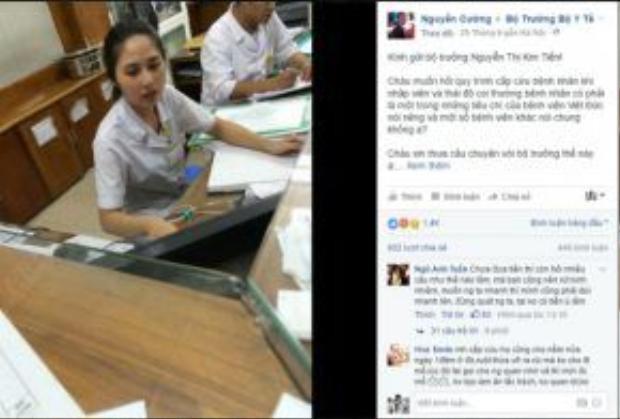 Facebooker Nguyễn Cường rất bức xúc trước thái độ của nhân viên y tế Bệnh viện Việt Đức. (Nguồn: Facebook).
