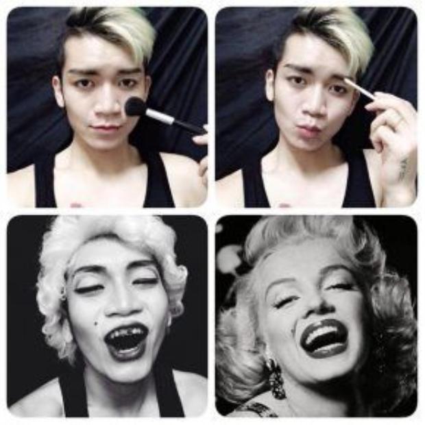Huyền thoại điện ảnh gợi cảm Marilyn Monroe.