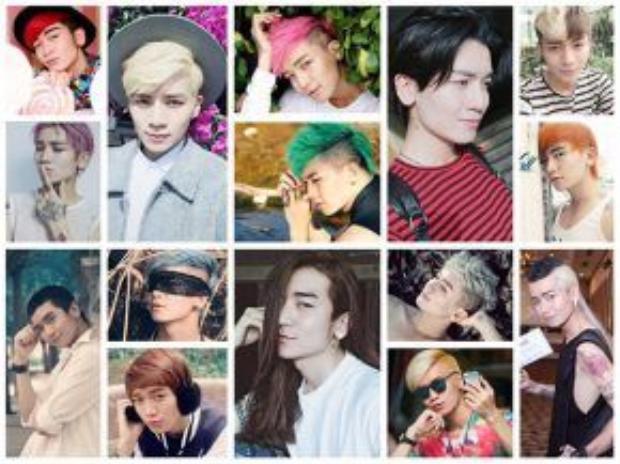 Nam diễn viên thay đổi rất nhiều kiểu tóc khiến fan thích thú.