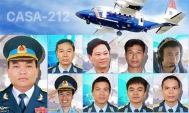 9 thành viên tổ bay CASA đều là quân nhân thuộc Lữ đoàn không quân 918.