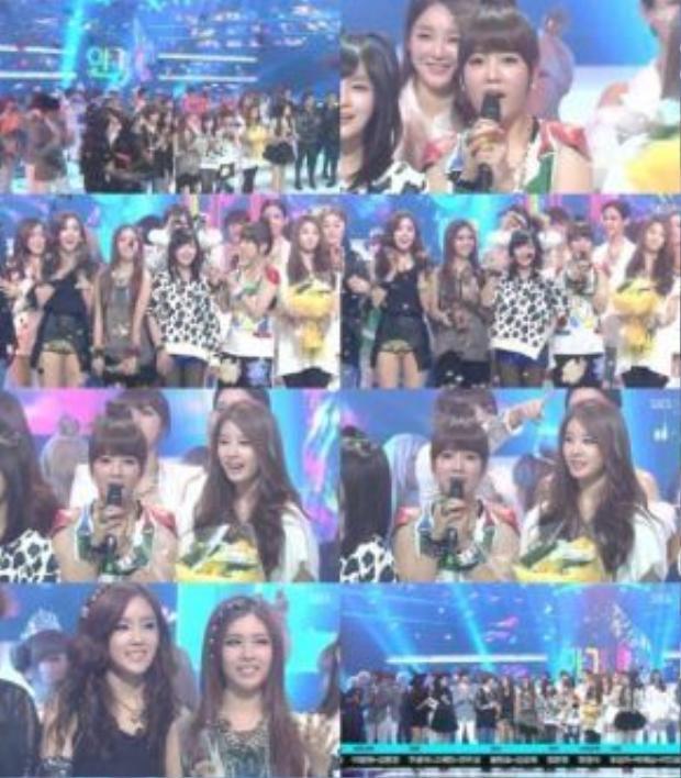 Lovey Dovey giành được chiến thắng trong 3 tuần liên tiếp tại Inkigayo, 4 tuần liên tiếp tại Music On Top, 2 tuần liên tiếp tại M!Countdown và 4 tuần (không liên tiếp) tại Music Bank.