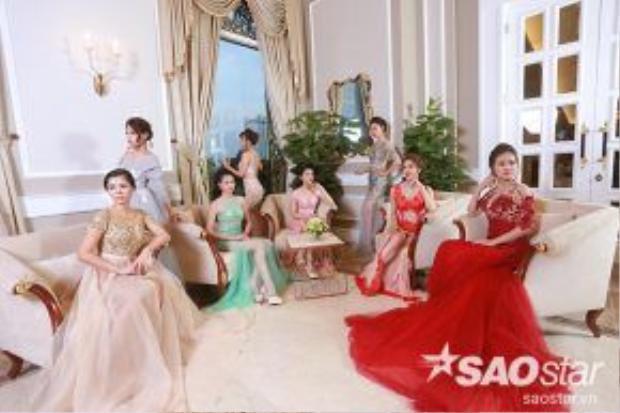 """""""Lâu đài sắc đẹp"""" của các thí sinh Hoa hậu Bản sắc Việt toàn cầu 2016."""