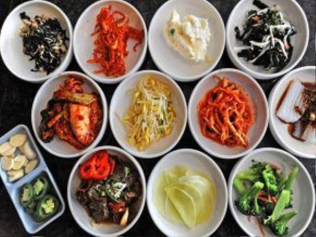 Banchan at Palace Korean BBQ Restaurant on Tuesday, April 3, 2012. (Lui Kit Wong/Staff photographer)
