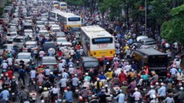 Hà Nội đang xây dựng kế hoạch cấm xe máy vào năm 2025. Ảnh minh họa: Internet.