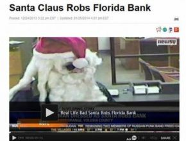 Ông già Noel đi trộm nhà băng.