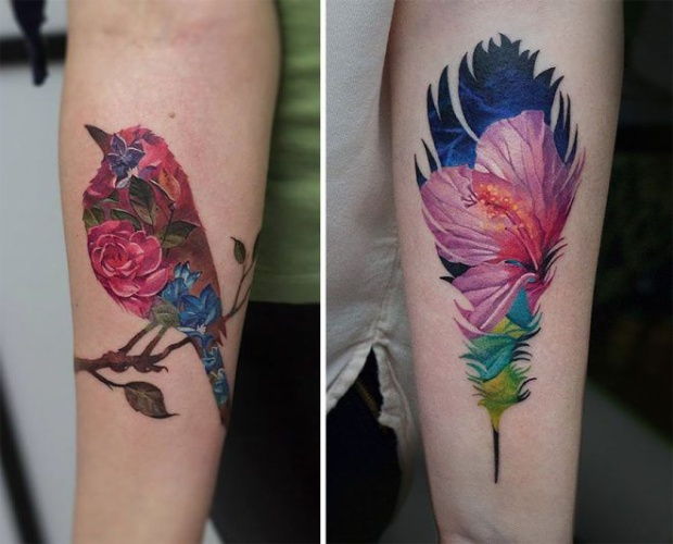 Double exposure  thú chơi mới của dân tatoo