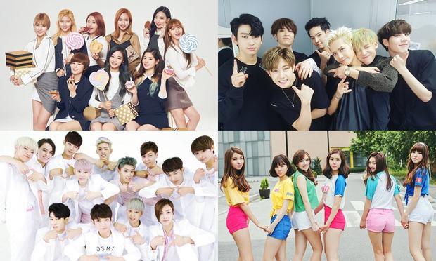 Các thành viên TWICE + GOT7 + Seventeen + GFriend cùng kết hợp trong một dance stage khác.
