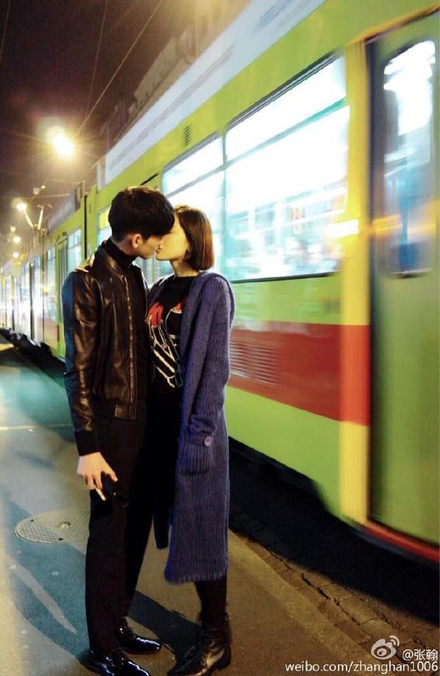 Hình ảnh Trương Hàn chia sẻ trên weibo như một cách công khai thừa nhận chuyện hẹn hò với Na Trát.