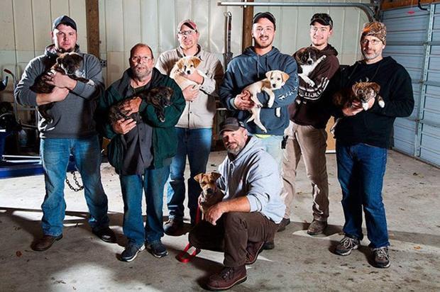 8 chàng trai nuôi dưỡng 8 chú chó.