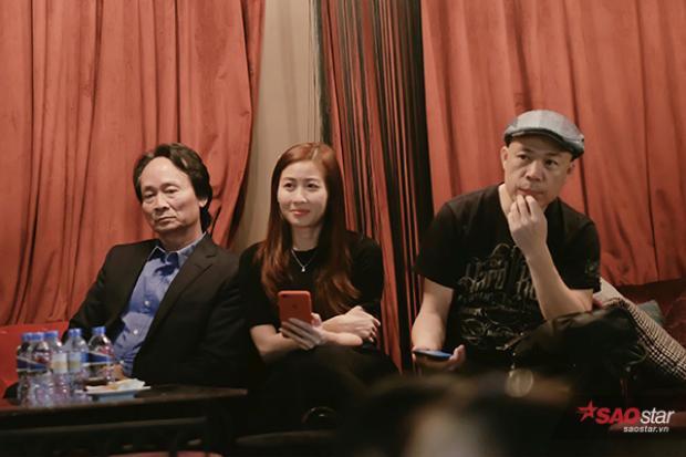 Bố của Rocker Nguyễn và nhạc sĩ Huy Tuấn cũng có mặt trong buổi giao lưu.