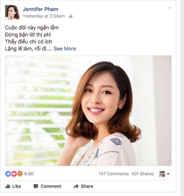 Chia sẻ mới nhất của Jennifer Phạm.