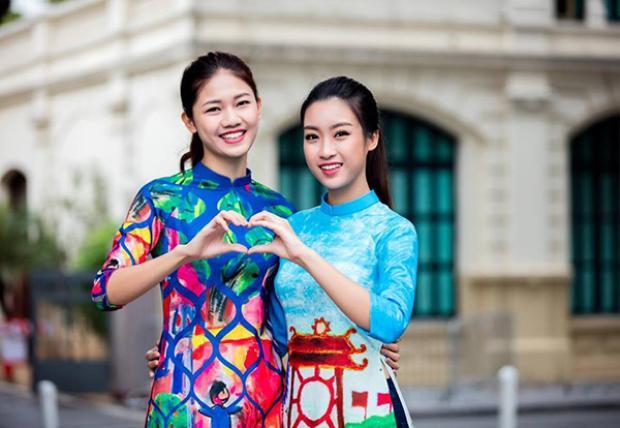 Với Thanh Tú, Mỹ Linh là cô em ngoan ngoãn, hiền lành.
