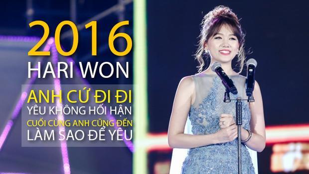 Nhìn lại 2016 năng suất của Hari Won, ai cũng phải thấy mệt!