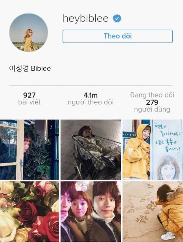 Tài khoản instagram cá nhân của cô nàng.