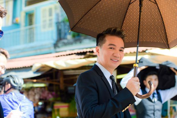 Ở ngày quay cuối cùng, Mr. Đàm có mặt tại khu chợ từ 8h sáng.