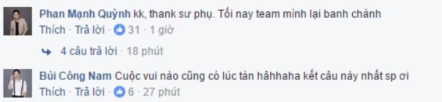 """Phan Mạnh Quỳnh dí dỏm cảm ơn """"sư phụ"""" của mình."""