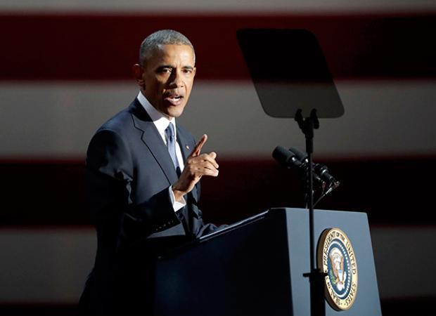 """Liệt kê về những thành tựu nổi bật như: Bình thường hoá quan hệ với Cuba, Tiêu diệt trùm khủng bố Bin Laden, Chấm dứt chương trình hạt nhân của Iran trong hoà bình, ông khẳng định: """"Nước Mỹ đã trở thành một nơi tốt đẹp hơn, mạnh mẽ hơn so với thời điểm tôi bắt đầu."""""""