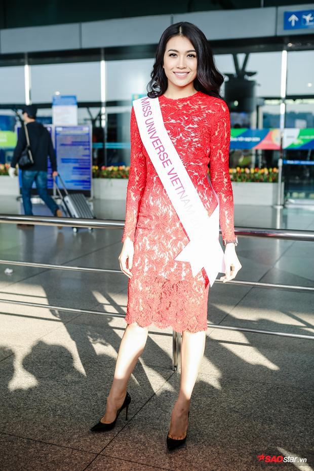 Lệ Hằng diện đầm ôm sát, xinh đẹp xuất hiện tại sân bay.
