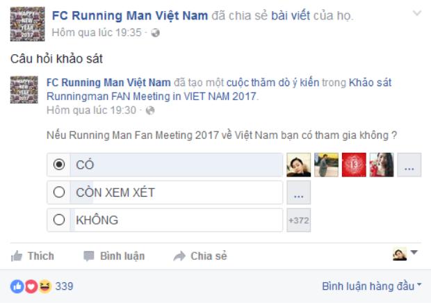 Bài khảo sát các fan phải làm nếu muốn đưa Running Man về Việt Nam.