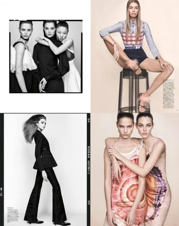 Cách mix-match trang phục chính là điểm mấu chốt trong những shoot hình độc đáo này của Vogue Nhật Bản.