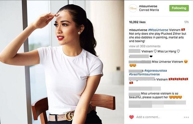 Instagram cũng thu hút rất động sự quan tâm của công chúng.