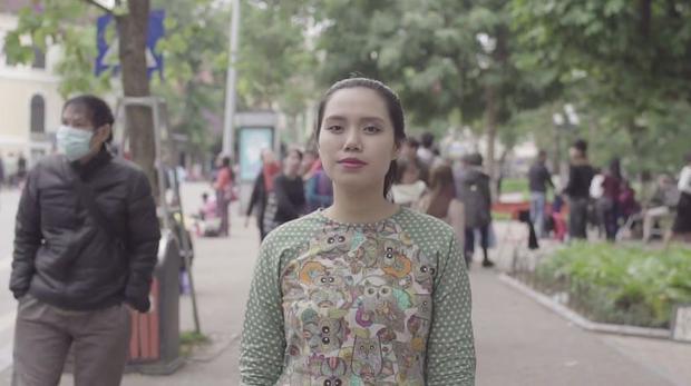 Nguyễn Thị Ngân Hà - team Đức Trí. Ngân Hà cũng là người sáng tác ca khúc Tết ngày ấy đầy ý nghĩa.