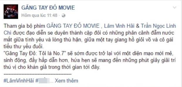 Trang Fanpage chính thức của phim cũng đã hé lộ về sự trở lại của Găng tay đỏ.