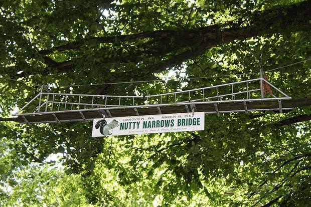 Được thiết kế như một chiếc cầu treo thu nhỏ, Nutty Narrows đã có mặt từ năm 1963 và là làn đường chính dành cho loài sóc tại Longview, Washington, Mỹ.