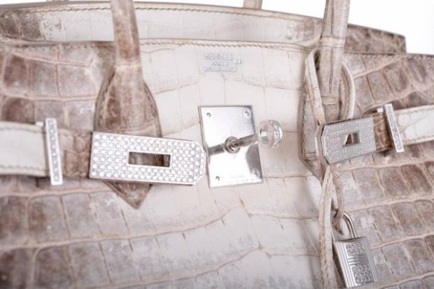 Bên cạnh đó, phần khoá gài của túi xách cũng gắn hơn 200 viên kim cương, tổng cộng 8,2 carat.