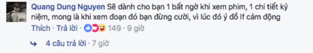 Lời đáp trả chân thành của đạo diễn Nguyễn Quang Dũng.