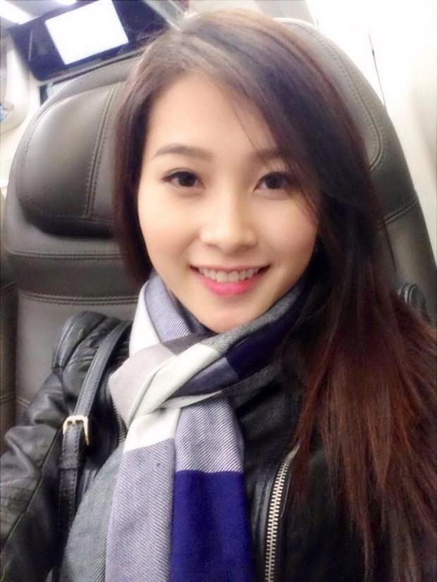 Nhan săc xinh đẹp của Hoa hậu Thu Thảo dù không trang điểm.