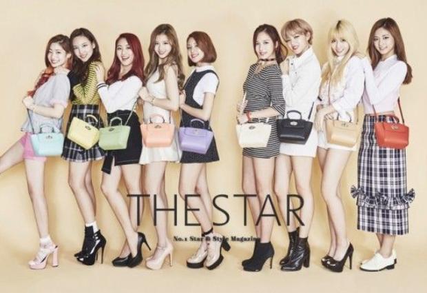 Twice xinh đẹp trong quảng cáo túi xách của nhãn hiệu THE STAR.