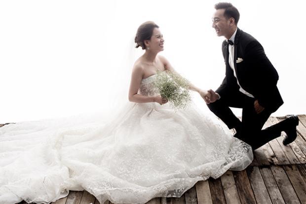 Thành Trung và bà xã 9X Ngọc Hương.