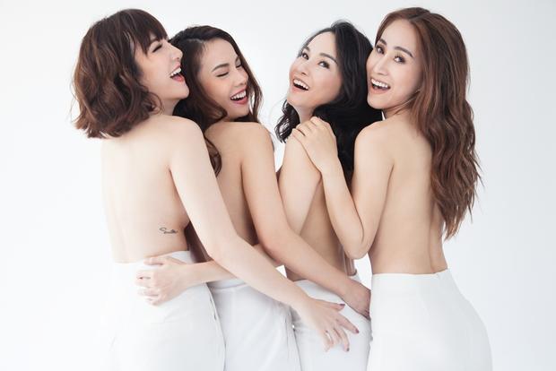Sau 10 năm, Yến Trang và Mây Trắng tái xuất với bộ ảnh nude táo bạo