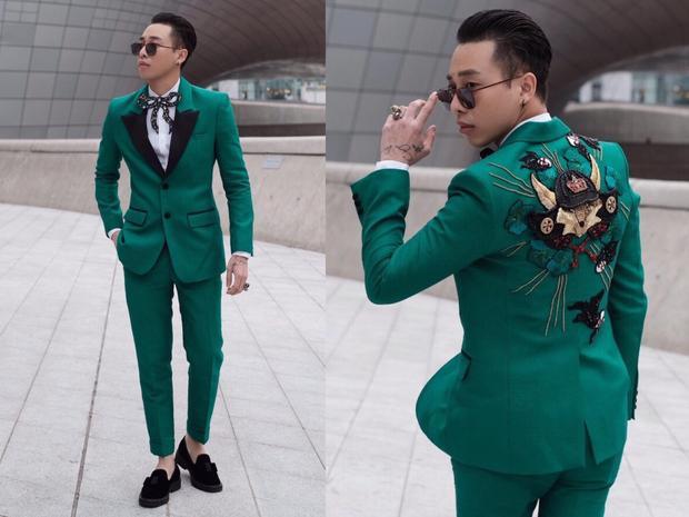 Được biết bộ suit made in Việt Nam của NTK Trần Ngọc Chiến.