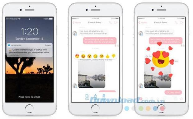 Phản ứng bằng cảm xúc cuối cùng cũng đã xuất hiện ngay trong hộp Messenger của Facebook