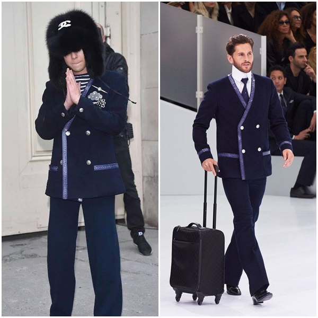 Tới G-Dragon cũng bê nguyên set trong BST Chanel 2016 mà diện đấy thôi