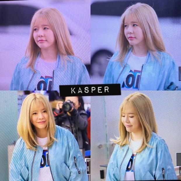 Sunny nổi bật với mái tóc màu vàng.