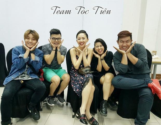 Trò cưng Tóc Tiên gồm có: Quốc Đạt, Dương Thuận, Phương Mai, Huy Hoàng.