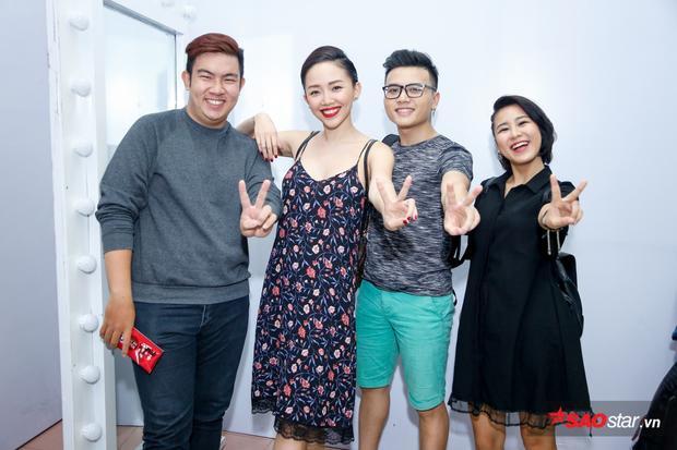 Tóc Tiên cùng học trò xuất hiện tại hậu trường Remix New Generation.