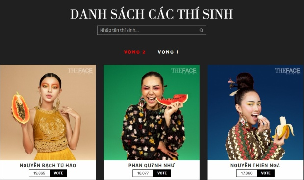 Một cuộc đổi ngôi bất ngờ diễn ra và đây là 3 thí sinh có số lượng bình chọn cao nhất ở The Face Online