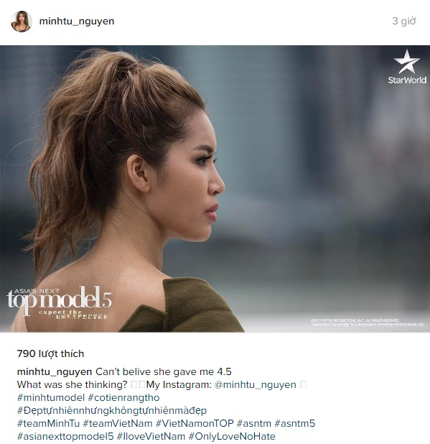 Cô cũng có những chia sẻ bằng tiếng Anh trên Instagram dành cho fan quốc tế.