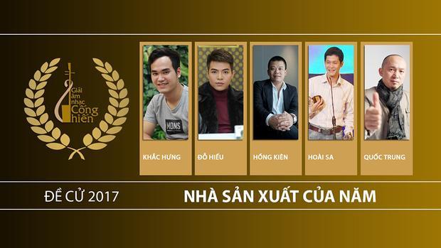 Danh sách đề cử hạng mục Nhà sản xuất của năm.