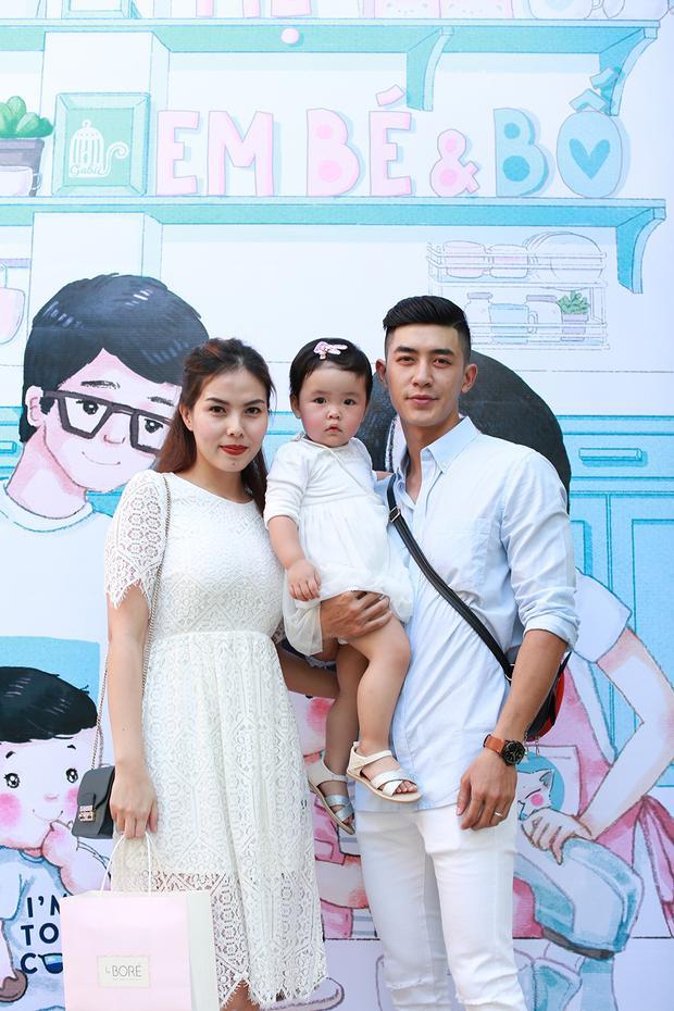 Người mẫu Cao Lâm Viên lần đầu đưa vợ con đi dự sự kiện chung.